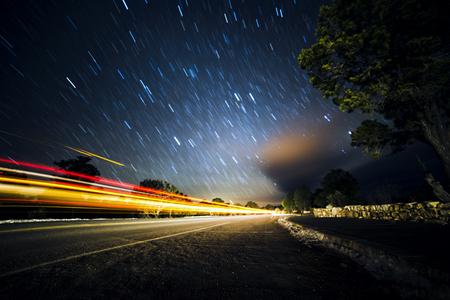 Sternspuren Grand Canyon Standard-Bild - 78157714