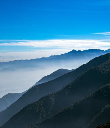 Blue Skies in Chandragiri Hill Nepal 免版税图像