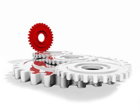 interlink: a group of cogwheels