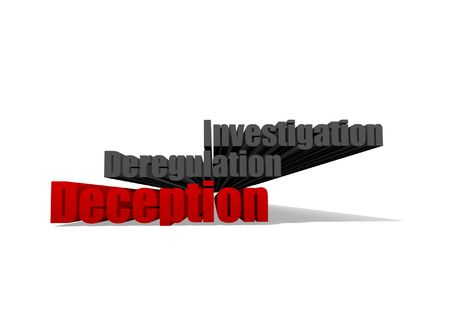 deregulation: A group of 3d Words on a white background Stock Photo