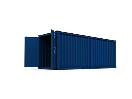 A 3d maded Container on a white background Stock Photo - 6339390