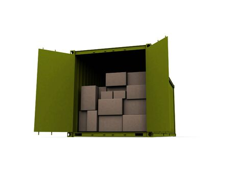 A 3d maded Container on a white background Stock Photo - 6339385