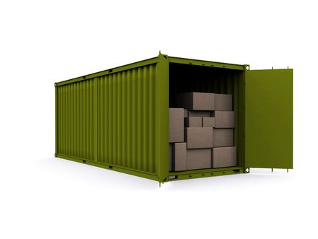 A 3d maded Container on a white background Stock Photo - 6339386