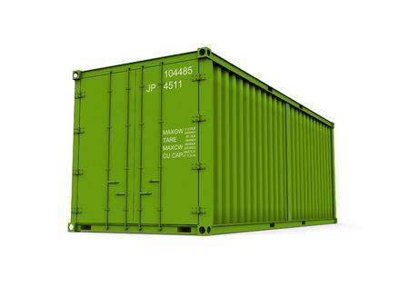 seafreight: Un contenedor de 3d realizada sobre un fondo blanco