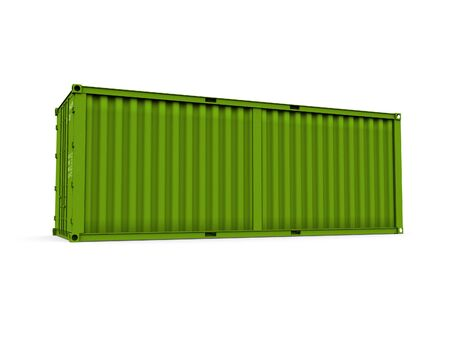 A 3d maded Container on a white background