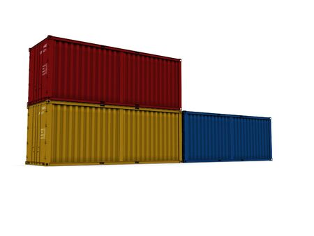 A 3d maded Container on a white background Stock Photo - 6339400
