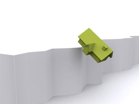 a 3d maded house on a white background Stock Photo - 6394705