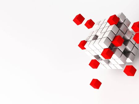 a 3d maded cube photo