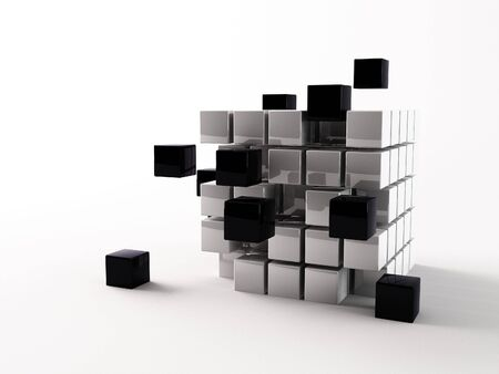 a 3d maded cube