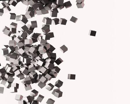 Eine 3d Maded-cube  Standard-Bild - 6613011