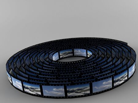scrollbar: a 3d maded photofilm on a grey background