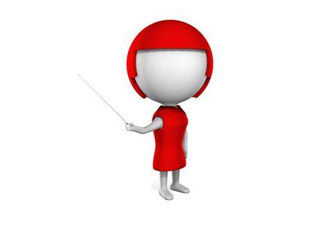 a 3d woman on a white background Reklamní fotografie