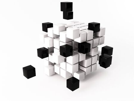nexus: a 3d maded cube on a white background