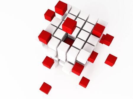 nexus: a 3d cube on a shite background
