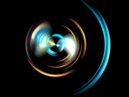 ambient: a colorful fractal on a black background Stock Photo