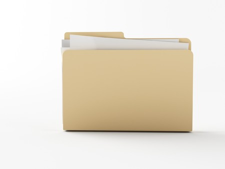 download folder: a brown 3d maded folder Stock Photo
