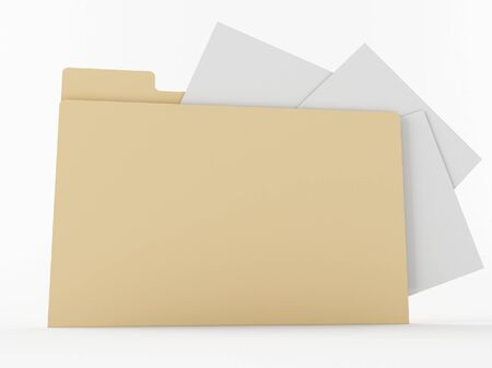 a brown 3d maded folder photo
