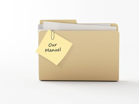 a brown 3d maded folder with a note paper photo