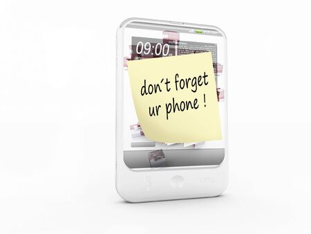 a cellphone on a white background Stock Photo - 8115884