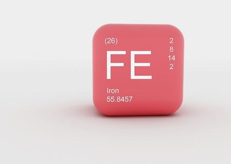 a singel symbol, for a chemical material  Standard-Bild
