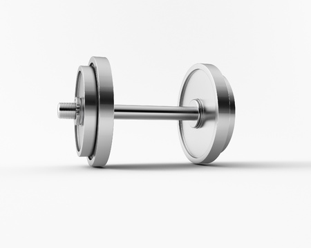 a 3d made group of bar bell photo