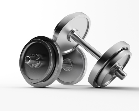 a 3d made group of bar bell Stock Photo - 8983992