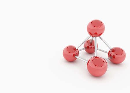 a model of red chrome balls Standard-Bild