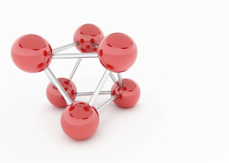 a model of red chrome balls photo