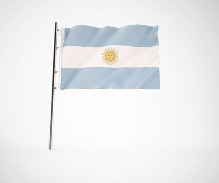 a 3d maded flag  of a country Stock Photo - 10230013