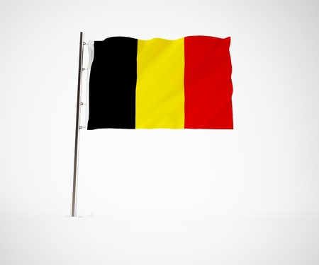 belgien: a 3d maded flag  of a country