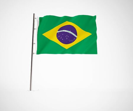 a 3d maded flag  of a country Stock Photo - 10230010