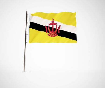 a 3d maded flag  of a country Stock Photo - 10230016
