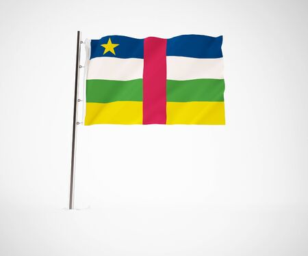 a 3d maded flag  of a country Stock Photo - 10230002
