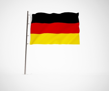 ger: a 3d maded flag  of a country