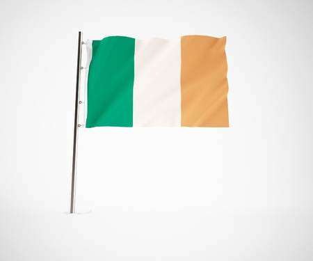 a 3d maded Flag on a light grey background Stock Photo - 10229970
