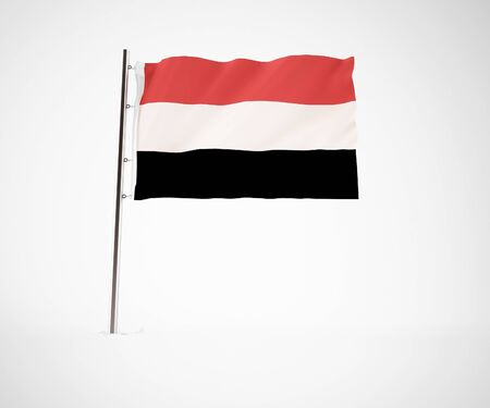 contry: a 3d maded Flag on a light grey background Stock Photo