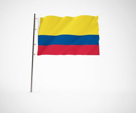 a 3d maded flag  of a country Stock Photo - 10251942