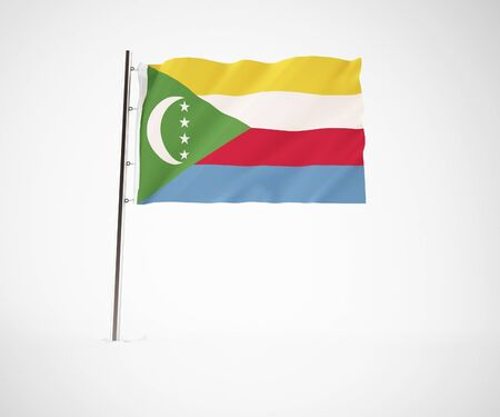 comores: a 3d maded flag  of a country