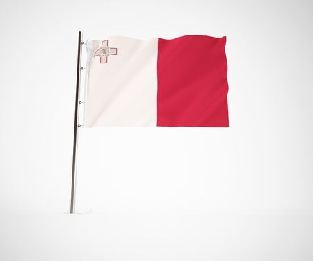 contry: a 3d maded flag  of a country