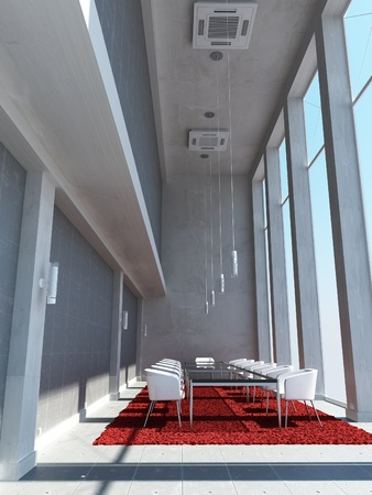 a 3d maded meeting room