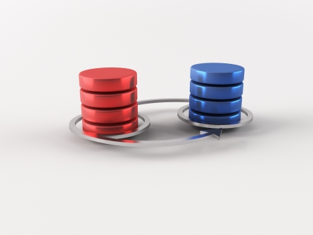 a 3d maded database connection photo