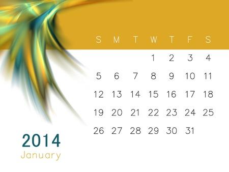 Ein Kalender für 2014 Standard-Bild - 14752802