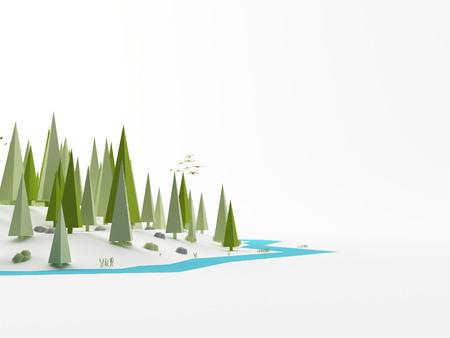 ploy: a 3d maded low ploy landscape