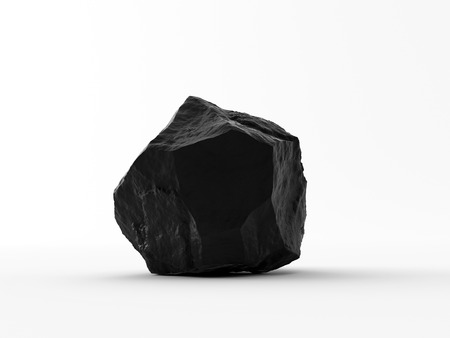 catalyst: Handful of coal on white background