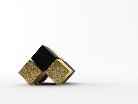 nexus: Small cubes on a white background Stock Photo