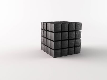 nexus: Small cubes on a white background Stock Photo
