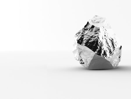nuggets: aluminium nuggets on a white background