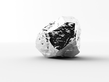 liaison: aluminium nuggets on a white background