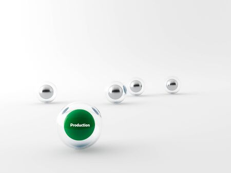 Collection of colorful glossy spheres Stock Photo
