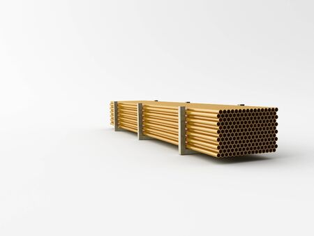 loopable: Metal mades Pipes on a white background Stock Photo